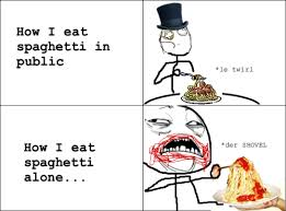 Meme Comic - Eating Spaghetti via Relatably.com