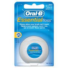 <b>Зубная нить ORAL</b>-<b>B Essential</b> Floss Waxed Mint, 50 м — купить в ...