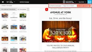 how to send your first email happy hour invitation knowledge base step 4 we re now in the email editor and ready to customize our invitation email let s start at the top of this template by replacing its halloween themed