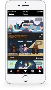 graduate jobs schemes and internships debut app screenshot of the games section