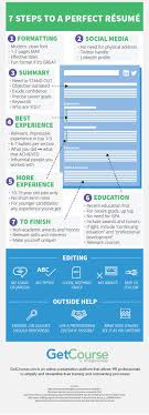 best ideas about resume creator creative cv infographic 7 steps to a perfect resume infographics creator