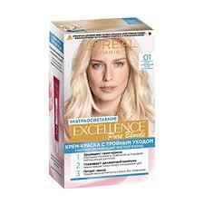 Краска для <b>волос</b> Excellence Color 01 <b>Суперосветляющий</b> русый ...