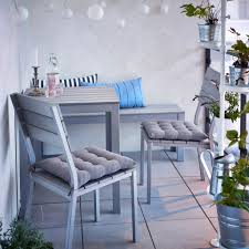 furniture for small balcony a small balcony with grey table bench and chairs with seat cushions ad small furniture ideas pursue