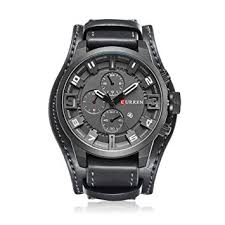 <b>CURREN</b> Men Casual Leather Strap <b>Sports Date</b> Analog Quartz ...