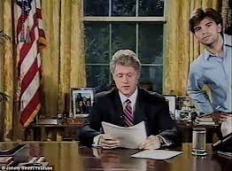 at one point george stephanopolous right who served as press secretary under bill clinton oval office