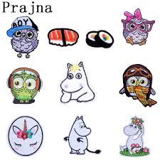 Prajna <b>Cartoon Owl</b> Hippo   <b>Patch</b> Iron On Cloth DIY Embroidered ...