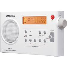shower radio review guide x: sangean am fm compact digital tuning portable radio white walmartcom