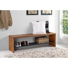 58 in. Amber <b>Solid Reclaimed</b> Wood Entry <b>Bench</b>   Wood <b>storage</b> ...