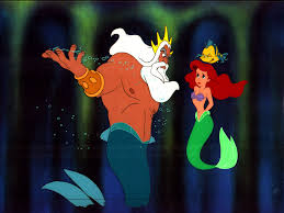 King Triton is an example of the use of an authoritarian parenting style.