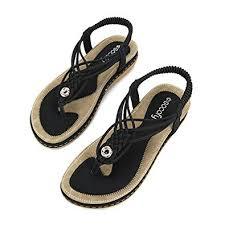 Socofy <b>Womens Sandals Summer</b> Beach <b>Flip Flops</b> Thongs Ladies ...