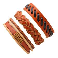 <b>3 Pcs Vintage Braided</b> Leather Bracelet Male-buy at a low prices on ...