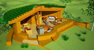 Earth Sheltered   Underground House Plans   Natural Building BlogThis unique earth sheltered Spiral design includes a large grow bed  exposed timber ceiling and living roof  sq  ft  interior  bedroom  bath