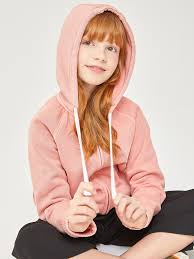 <b>Толстовка с капюшоном</b> для девочек цвет: цвет пудры, артикул ...