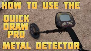 Metal Detecting: How to Use the <b>Bounty Hunter Quick Draw</b> Pro
