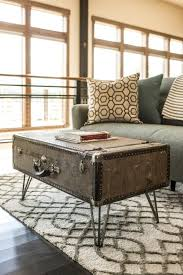 how to make a suitcase coffee table like the one at blog cabin http awesome tree trunk table 1