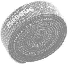 <b>Органайзер проводов Baseus Rainbow</b> Circle Velcro Straps 1m Grey