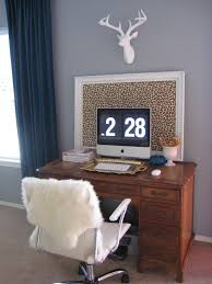 desk eclectic home office idea in portland with gray walls carpet and a freestanding desk cheerful home office rug