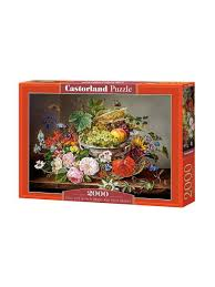 <b>Пазл 2000</b> деталей C-200658. Натюрморт с цветами и фруктами ...