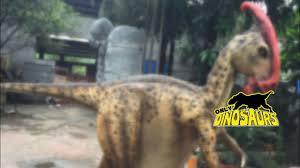 Realistic <b>Dinosaur Parasaurolophus Costume</b> - YouTube