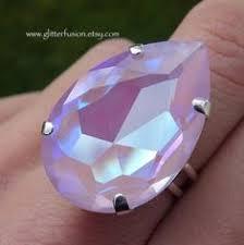 RESERVED ITEM, Astral <b>Pink</b> Swarovski Cushion Cut <b>Crystal</b> Boho ...