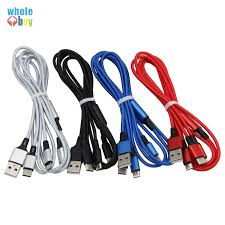 50pcs/lot <b>3in1</b> USB <b>Nylon</b> Braided Fabric <b>Type C Micro</b> 5pin 8pin ...
