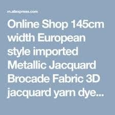 145x50cm Imported Black Big Flower Metallic Jacquard Brocade ...