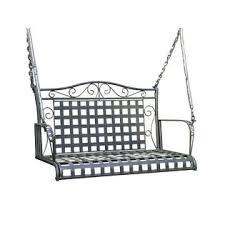 international caravan mandalay iron patio swing antique black epatio black wrought iron patio furniture