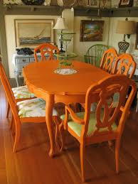 Colored Dining Room Sets Colorful Painted Dining Table Inspiration