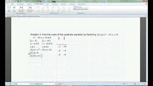 algebra help solving quadratics by factoring