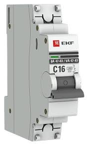 Купить <b>Автоматический выключатель</b> EKF ВА 47-63 1P (С) 4,5kA ...