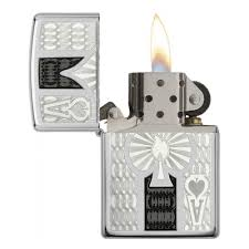 <b>Зажигалка ZIPPO</b> Ace High Polish Chrome, <b>латунь</b> с никеле ...