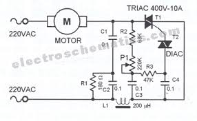 ac motor speed controller circuit dc motor speed controller schematic