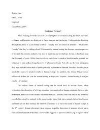 d action interaction animal testing final essay page 1