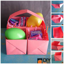 this easy paper easter basket is perfect for last minute easy paper easter basket
