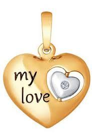 <b>Подвеска SOKOLOV</b> из золота с бриллиантом «<b>My love</b>» <b>Sokolov</b> ...