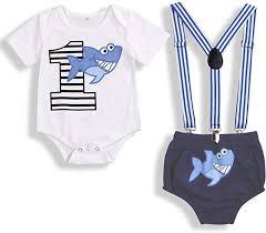 Baby Birthday Shark Clothes Baby Boy Girl Short ... - Amazon.com