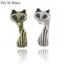 Antique Silver <b>Boho Fox</b> Animal Rings For Women Anel Adjustable ...