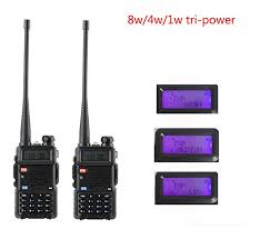 <b>2 pcs BaoFeng</b> UV-5R <b>8W</b> VHF UHF radio stations for 1/4/<b>8W</b> FM VOX