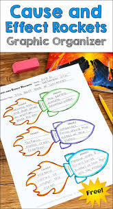 17 best ideas about cause and effect cause and awesome cause and effects rocket graphic organizer bie from laura candler s graphic organizers for reading