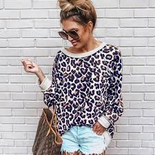 Spring and Autumn 2019 Sexy Leopard-print Long-sleeved ... - Vova