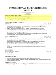 how to write a professional profile resume genius janitor cover letter gallery of example resume profiles