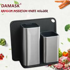 <b>DAMASK Stainless Steel Knife</b> Holder Multifunctional Kitchen Stand ...