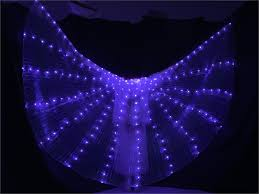 <b>Women</b> LED Light Isis Wings <b>Belly Dance Costumes</b> 360 Egyptian ...