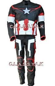 Classyak Men's America <b>Ultron</b> Captain Motorcycle Leather Suit ...