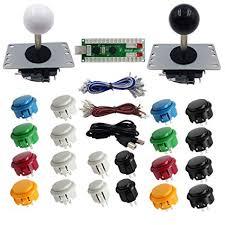 SJ@JX Arcade DIY Kit <b>2 Player Arcade Controller</b> USB Encoder ...