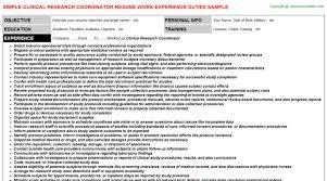 research coordinator resumeclinical research coordinator resume