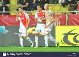 th apr french league football as ricardo carvalho asm andrea raggi asm guido carrillo asm celebrate their goal credit action plus sports live news