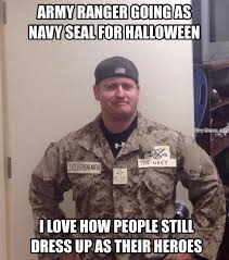 Army Ranger going as US Navy Seal - Navy Memes - clean mandatory fun via Relatably.com