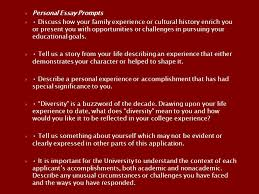 the college application essay renton high school septoct ppt download personal essay prompts  discuss how your family experience or cultural history enrich you or