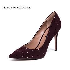 <b>BASSIRIANA 2018</b> women's Shoes with Heel <b>Genuine</b> Anti Fur ...